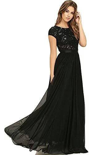 9dae472ce0 Royal Export Women's Georgette Sequence Work Party Wear Gown (Black) –  Bishwa Bazaar